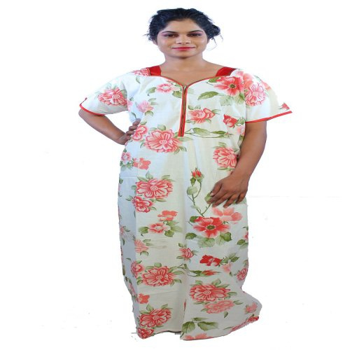 d1f7c4f83 Buy Babita Trading 1173 New Daily Wear Red Color Cotton Womens Gown Online