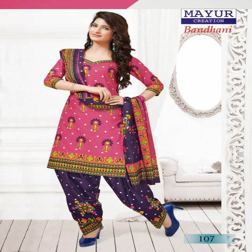 b3f661dc25 Buy Branded Mayur Printed Bandhani Dress Material Pure Soft Cotton Design 9  Online
