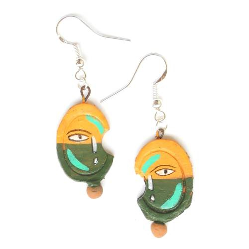 95d01c44d6 Buy Paint On Terracotta Jewellery -925 Sterling Silver Earrings Made Of  Natural Clay Dangle Drop Handmade Handicraft Hand Painted Earrings For Women  Online ...