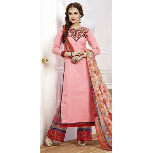 Craftsvilla Pink Pure Cotton Salwar Kameez