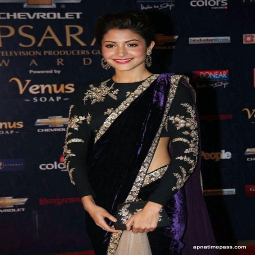 13054a1c37 Buy Designer Bollywood Celebrity Partiwear Replica Velvet + Net Saree  Anushka Sharma Online | Craftsvilla