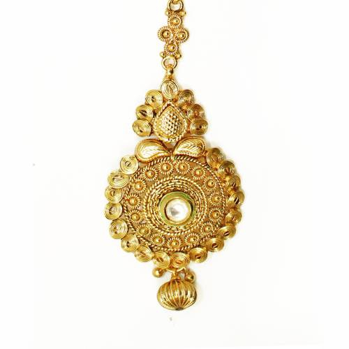 Buy Antique Design Gold Plated With Beautiful White Stone