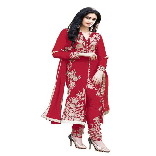 f6bbe3c458 Buy Paheli Heavy Embroidery Maroon Georgette Straight Party Wear Dress  Material Online | Craftsvilla
