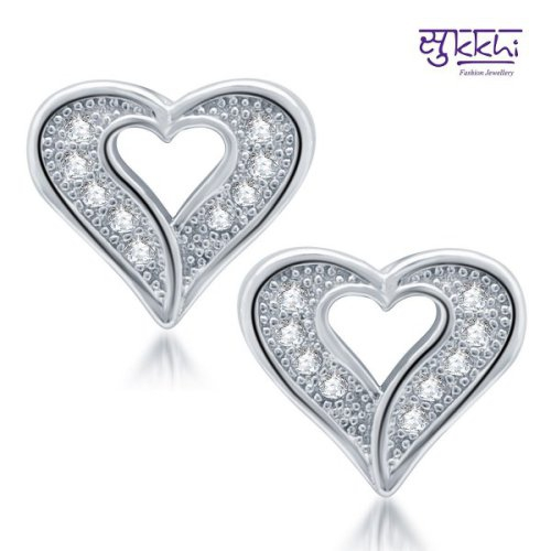 Craftsvilla Exquisite Rhodium Plated Micro Pave Cz Earrings(212earsdpvts350)