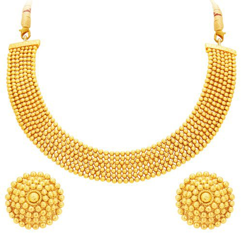 Craftsvilla Magnificent Gold Plated Necklace Set For Women