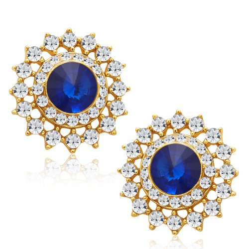 Craftsvilla Artistically Gold Plated Ad Earring