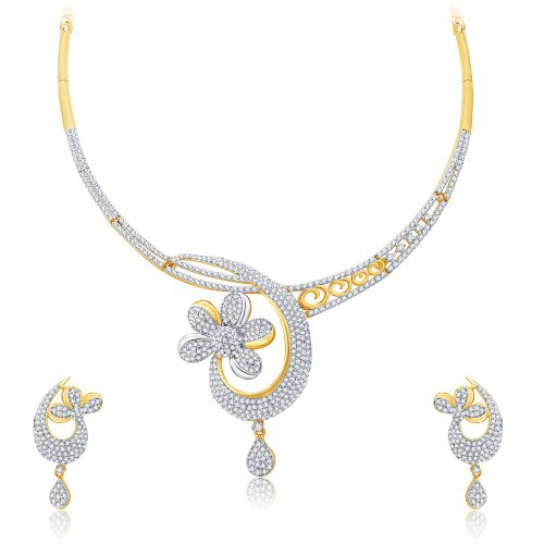 Craftsvilla Enchanting Gold And Rhodium Plated Cz Neklace Set