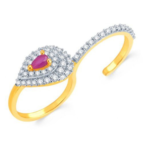 Craftsvilla Finely Gold And Rhodium Plated Cz Ring