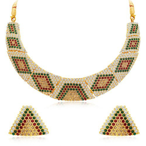 Craftsvilla Finely Gold Plated Ad Necklace Set