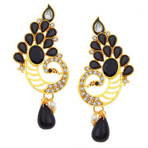Craftsvilla Stunning Peacock Gold Plated Ad Earring For Women