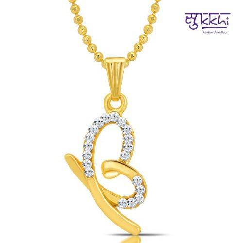 Craftsvilla Marvellous Gold And Rhodium Plated Valentine Heart Pendant With Chain(18009padl250)