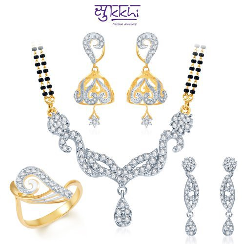 Craftsvilla Bewitching Gold & Rhodium Plated Cz Combo (include 18