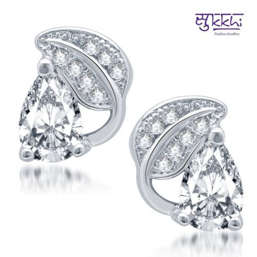 Craftsvilla Fine Rhodium Plated Micro Pave Cz Earrings(205earsdpvts250)