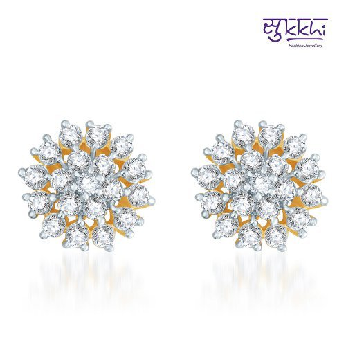 Craftsvilla Trendy Gold And Rhodium Plated Cz Earrings