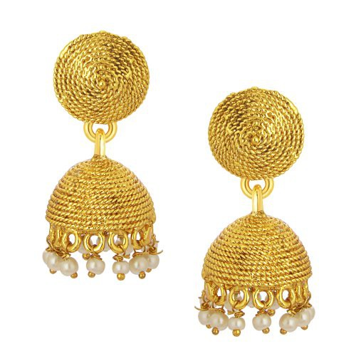 Craftsvilla Intricately Crafted Jhumki Gold Plated Earring