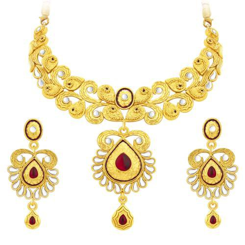 Craftsvilla Exquitely Gold Plated Ad Necklace Set