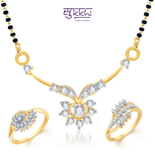 Craftsvilla Intricately Crafted Gold & Rhodium Plated Cz Combo (include 18
