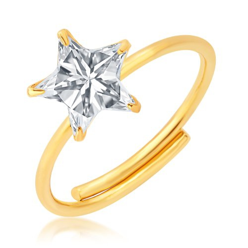 Craftsvilla Dazzling Gold Plated Cz Ring