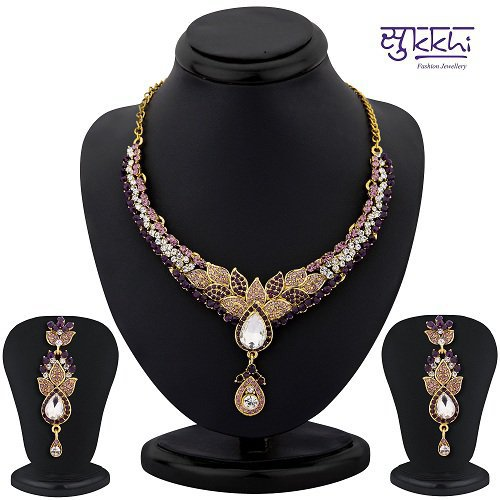 Craftsvilla Color Stone Necklace Set - 1157vn2500