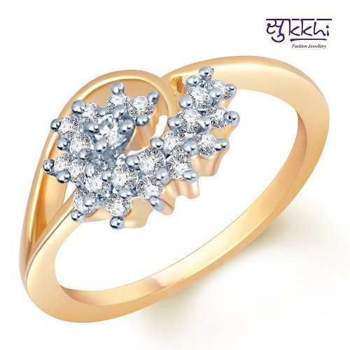 Craftsvilla Magnificent Gold And Rhodium Plated Cz Studded Ring