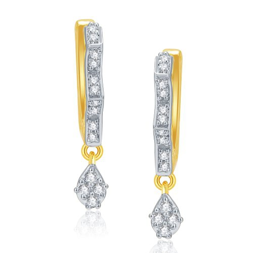 Craftsvilla Magnificient Gold And Rhodium Plated Cz Earrings