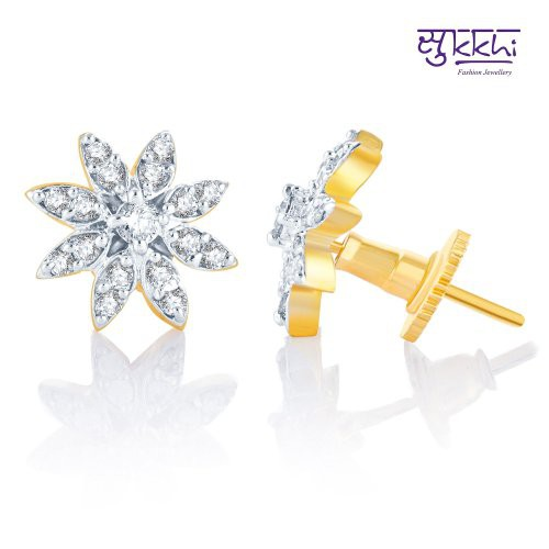 Craftsvilla Beguilling Classy Gold And Rhodium Plated Cz Earring