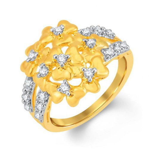 Craftsvilla Glistening Gold And Rhodium Plated Cubic Zirconia Ring (8060rczc620)