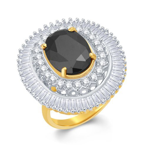 Craftsvilla Bejeweled Gold And Rhodium Plated Cz Ring