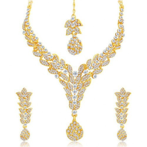 Craftsvilla Marvellous Gold Plated Ad Necklace Set For Women