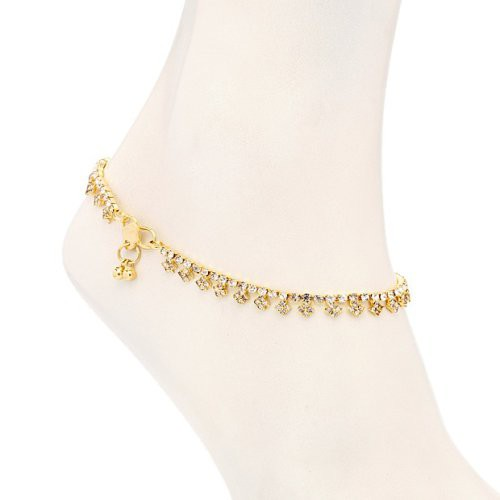 Craftsvilla Bewitching Gold Plated Australian Diamond Stone Studded Anklet(22003aadv1000) - Anklets By Craftsvilla Fashion