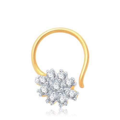 Craftsvilla Glorius Gold And Rhodium Plated Cz Nose Pin(36033npczk200) - Rings By Craftsvilla Fashion