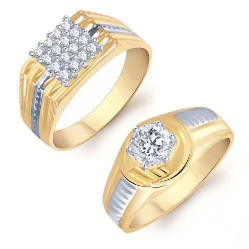 Craftsvilla Dazzling 2 Piece Ring Combo For Men(224cb1190) - Rings By Craftsvilla Fashion