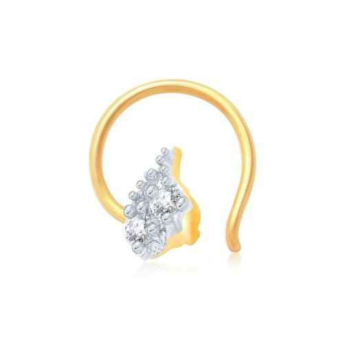 Craftsvilla Sleek Gold And Rhodium Plated Cz Nose Pin(36030npczk200) - Rings By Craftsvilla Fashion