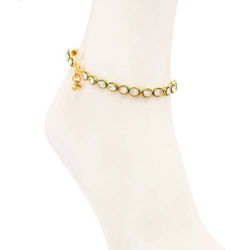 Craftsvilla Pretty Gold Plated Australian Diamond Stone Studded Anklet(22009aadv2850) - Anklets By Craftsvilla Fashion