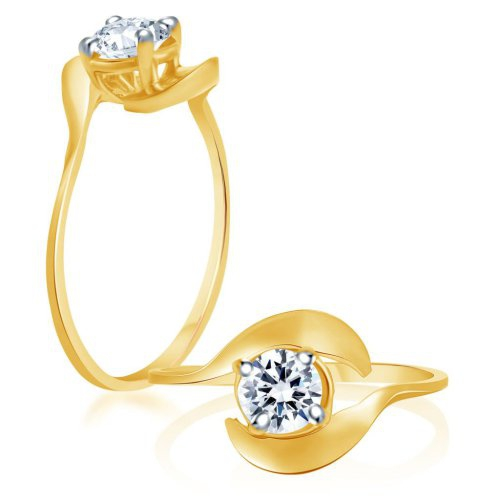 Craftsvilla Fascinating Gold And Rhodium Plated Cubic Zirconia Stone Studded Solitaire Ring(287r500) - Rings By Craftsvilla Fashion