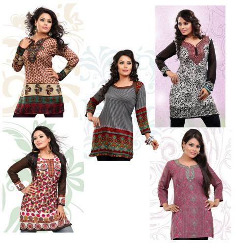 5 Combo Pack Kurtis Offer By Variation