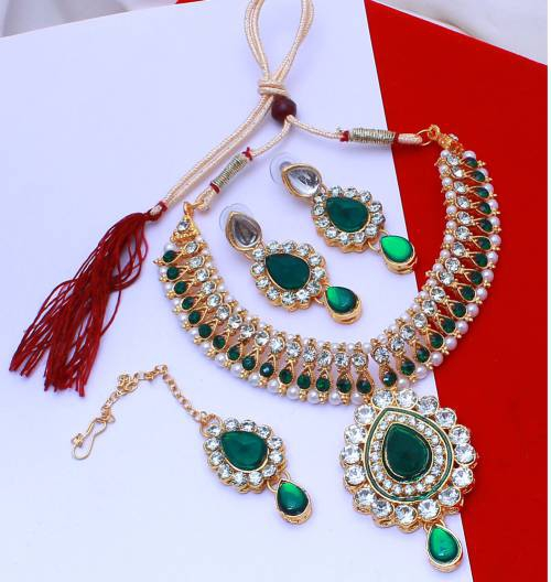 New Bollywood Style Gold Plated Fashion Bridal Jewelry Necklace Set
