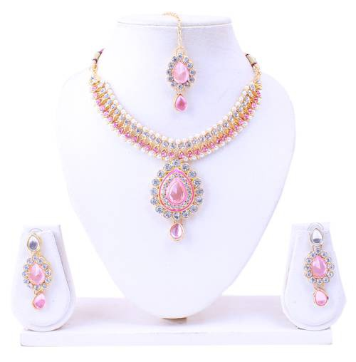 Designer Diamond Necklace Set For Womens