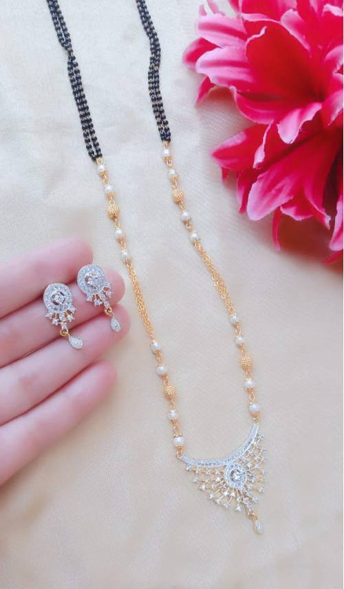 American Diamond Mangalsutra Set