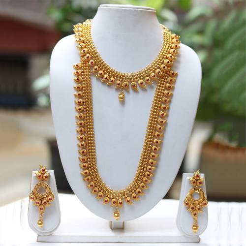 Craftsvilla Latest Design  Maroon Haram Necklace Set