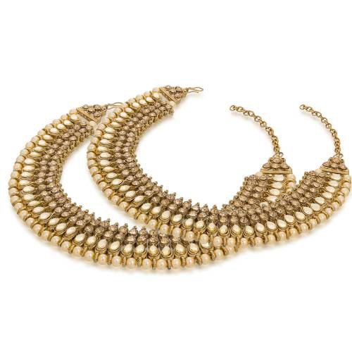 Craftsvilla  Gold Plated Fashionable Golden Alloy Anklets