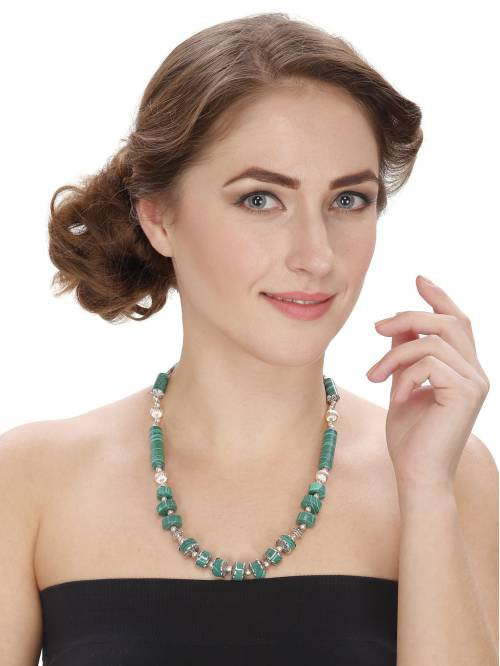 Craftsvilla Statement Designer Stylish Green Necklace