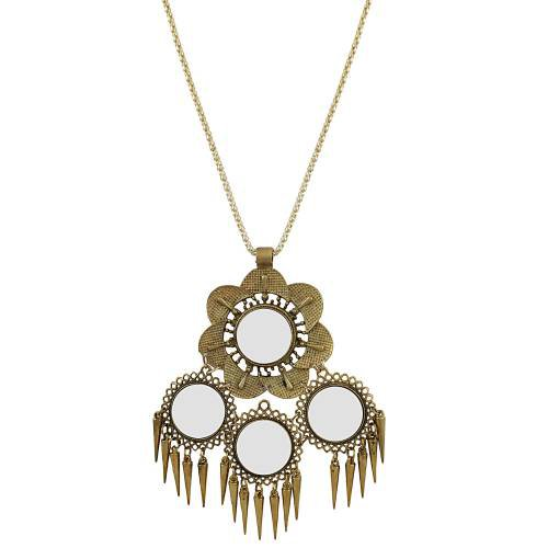 Craftsvilla High Finished Stylish Designer Mirror Tribal Necklace