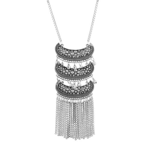Craftsvilla Designer Oxidized German Silver Tibetan Afgani Necklace