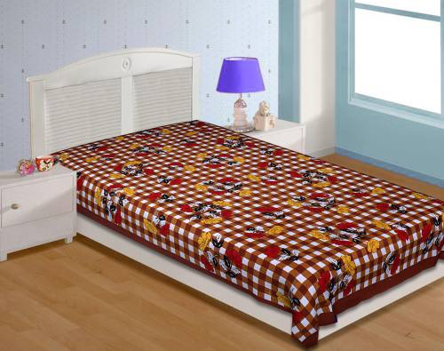 My Snoopy Jaipuri  Cotton Single Bedsheet Without  Pillow Covers (reed & Pick - 52x52)