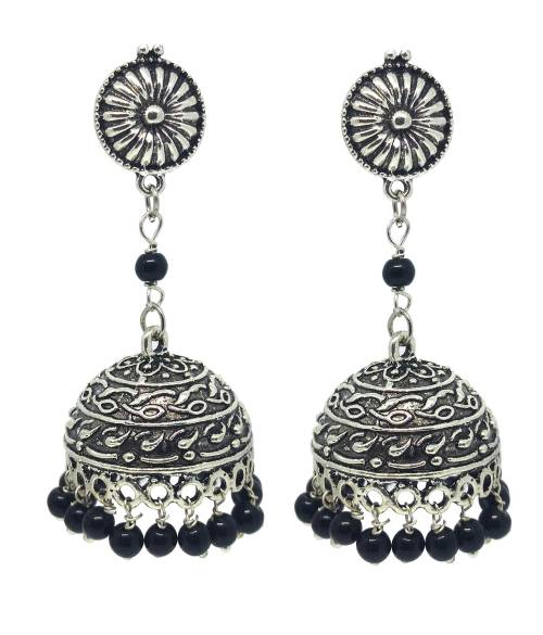 Antique Beautiful Black Long Pearl Designer Flower Hanging Earring For Girls/women\'s.