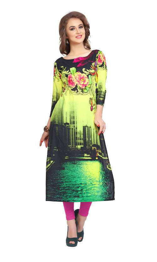 Multicolor Digital Printed Cotton Kurti