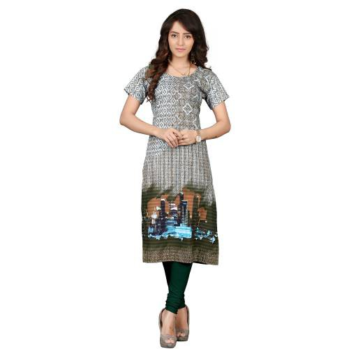 Multicolorcrepe Digital Printed Kurti