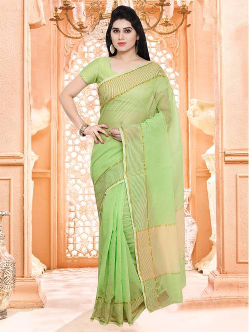 a1e2fa855497db Buy Craftsvilla Pista Green Festive Wear Super Net Solid Saree With  Unstitched Blouse Online | Craftsvilla