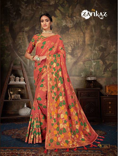 Linen Cotton  Banarasi Silk With Embrodaried Lace Saree